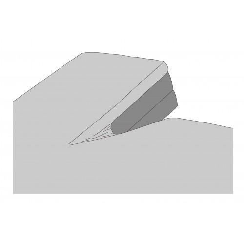 Kayori Kyoto bio-jersey splitopper hoeslaken (interlock, zilvergrijs)