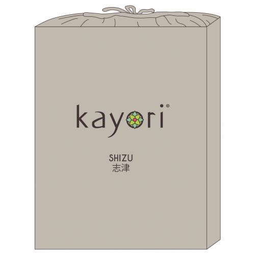 Kayori bio-jersey splitopper hoeslaken (tot 10cm, zand)