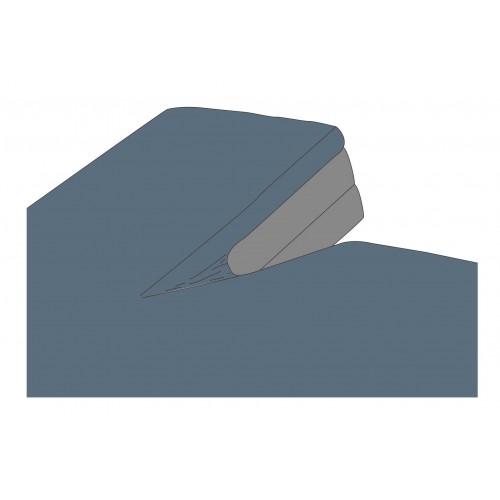 Kayori bio-katoen splittopper hoeslaken (blauw)