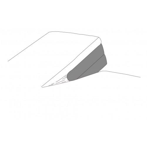 Waterdicht hoeslaken voor splittopper (1 split)