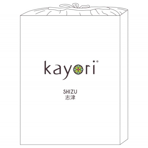 Kayori bio-katoen dubbele splittopper hoeslaken (wit)