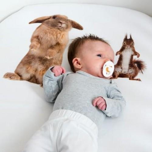 Snurk hoeslaken 70x140 Furry Friends