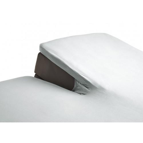 Katoenen splittopper hoeslaken wit