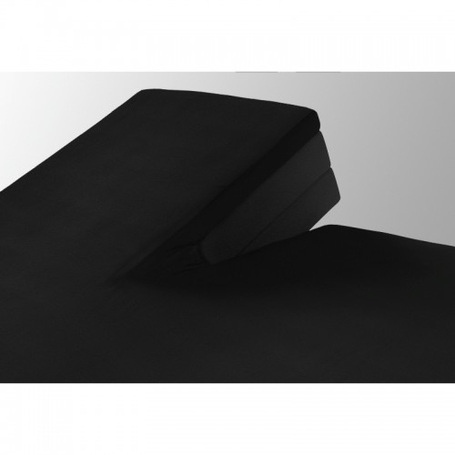 Katoenen splittopper hoeslaken zwart