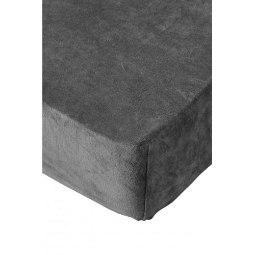 Residence collectie badstof velours hoeslaken (antraciet)