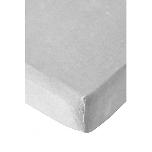 Residence collectie badstof velours hoeslaken (licht grijs)