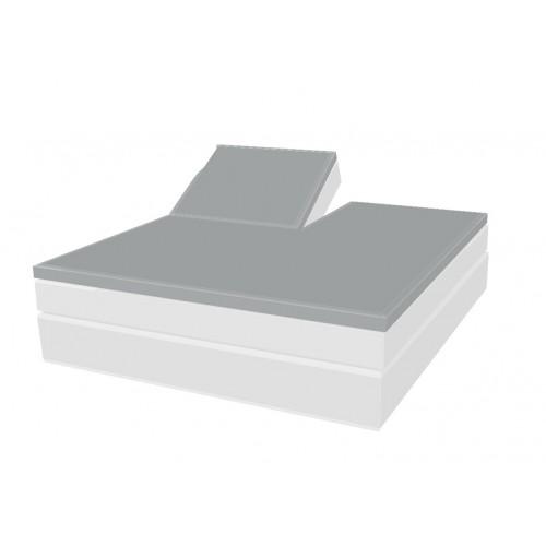 Molton topper hoeslaken met split (matrasbeschermer)