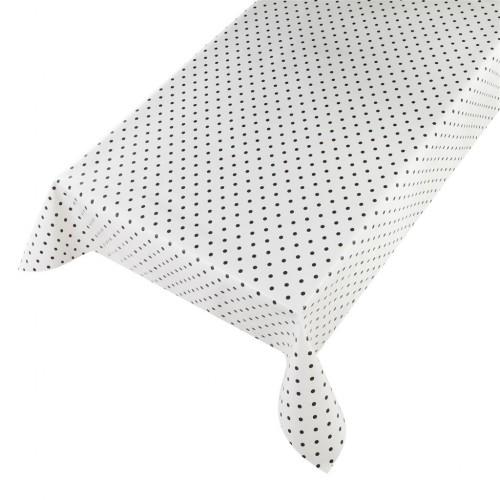 Tafelzeil Dots white