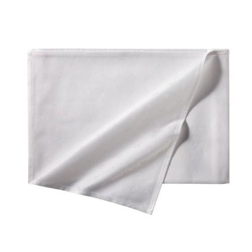 DDDDD damast servet Quadrat 2pack (50x50cm, wit)