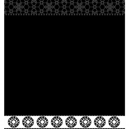 DDDDD keukendoek Lace (zwart)