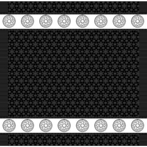 DDDDD theedoek Lace (zwart)
