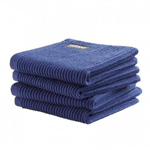 DDDDD vaatdoek basic (4-pack, classic blue)