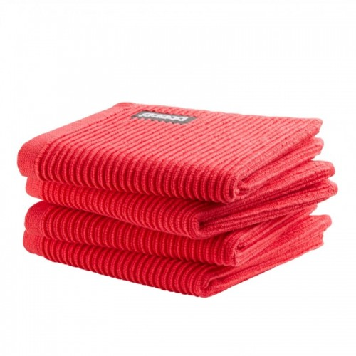 DDDDD vaatdoek basic (4-pack, classic red)