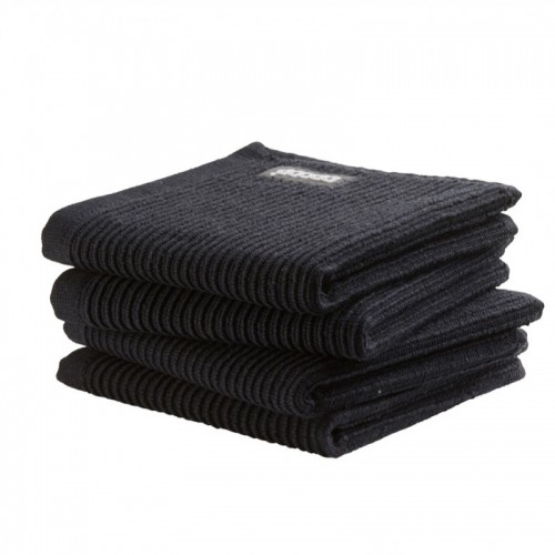 DDDDD vaatdoek basic (4-pack, neutral black)