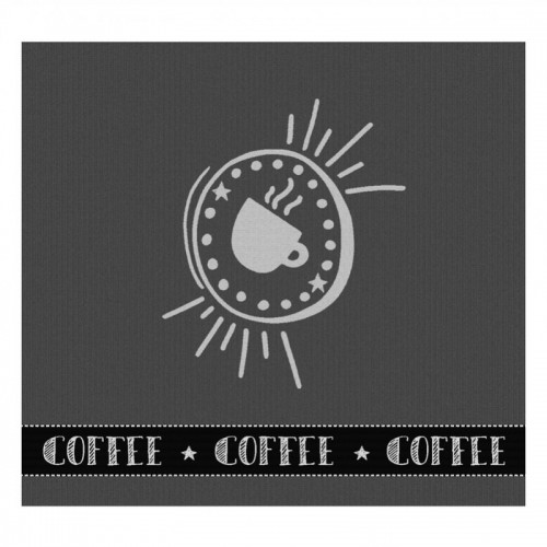 DDDDD theedoek Hello Coffee (antraciet)