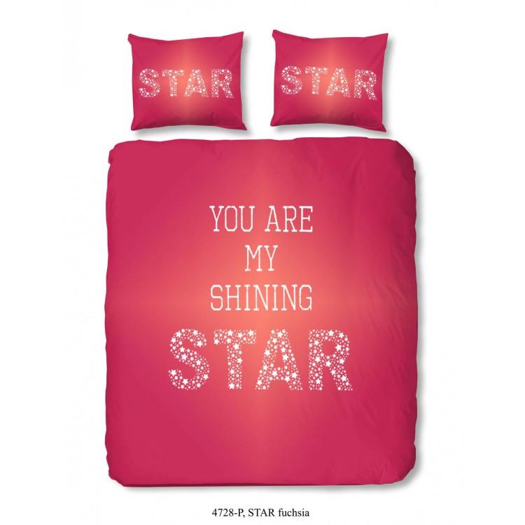 a676b6fc54e Aanbieding Star dekbedovertrek (4728, fuchsia)