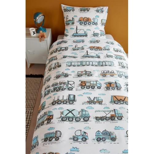 Beddinghouse dekbedovertrek Letter Car (blue)