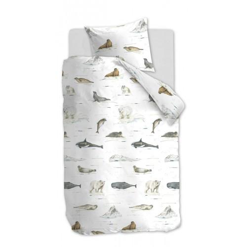 Beddinghouse dekbedovertrek Polar Animals (grey)