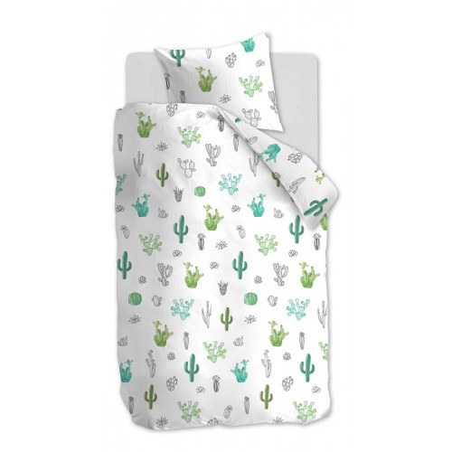 Beddinghouse dekbedovertrek Cactus (groen)