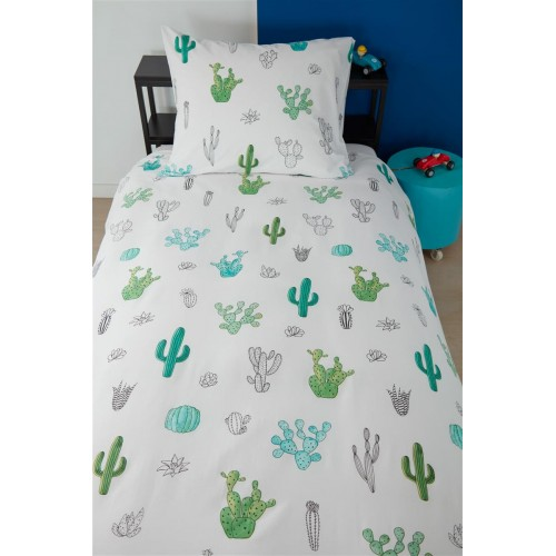 a08bb257352279 Beddinghouse dekbedovertrek Cactus (groen)
