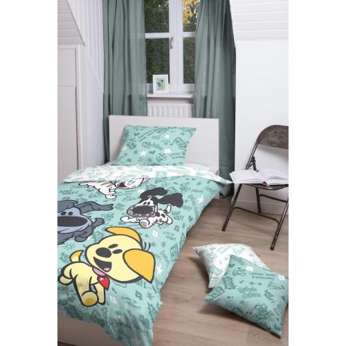 Woezel & Pip dekbedovertrek Spelen (groen)