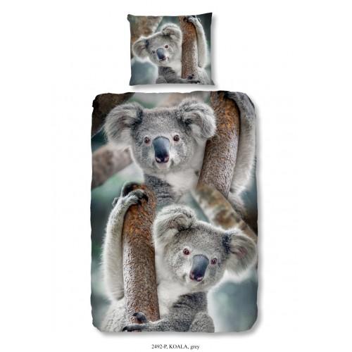 Koala dekbedovertrek 140x200/220 (2492, grijs)