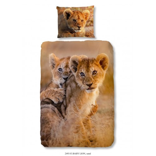 Baby Lion dekbedovertrek 140x200/220 (2493, zand)