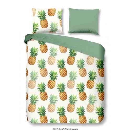 Ananas dekbedovertrek 140x200/220 (6027, ecru)