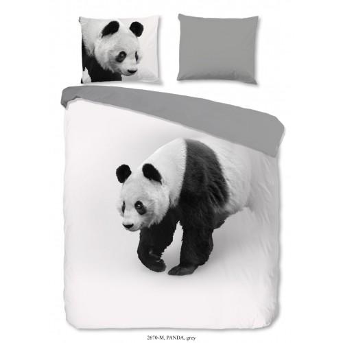 Pure dekbedovertrek Panda (2670, grijs)