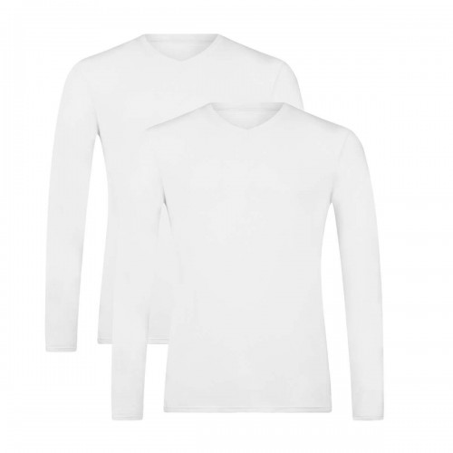 Bamboo Basics shirt Vick-001 (wit, 2-pack)
