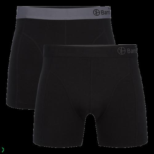 Bamboo Basics Boxershort Levi-002 (zwart, 2-pack)