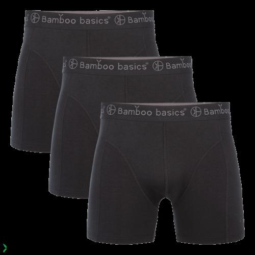 7120d3fa0abad6 Bamboo Basics Boxershort Rico-009 (zwart, 3-pack)