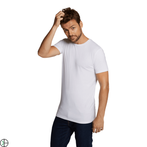 Bamboo Basics T-shirt Ruben-002 (wit, 2-pack)