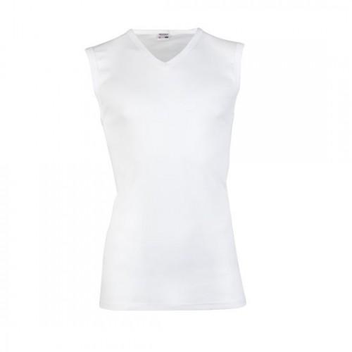 Beeren mouwloos shirt met v-hals (wit)