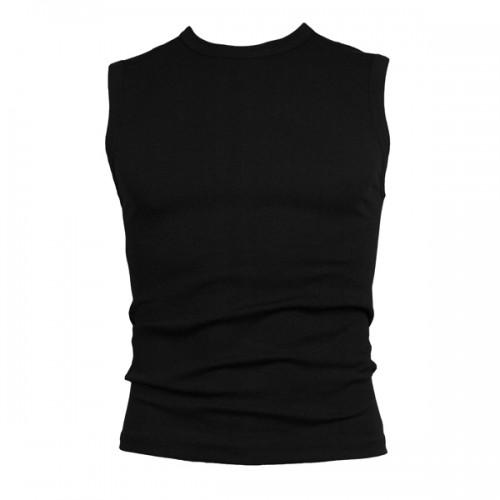 Beeren mouwloos shirt (zwart)