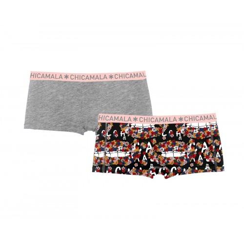 ChicaMala meisjes boxershort 1215FloweX01 (2-pack)