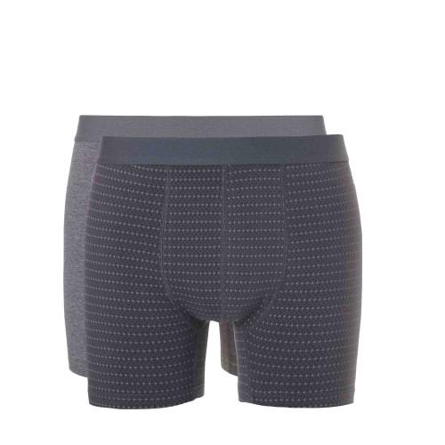 Ten Cate Men Short 2-pack 30684 (grey print-grey melee)