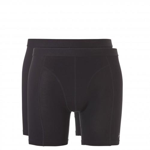 Ten Cate Men Basic bamboo shorts long (zwart, 2-pack)