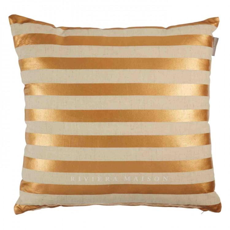 riviera maison sierkussen lounge gold 43x43cm