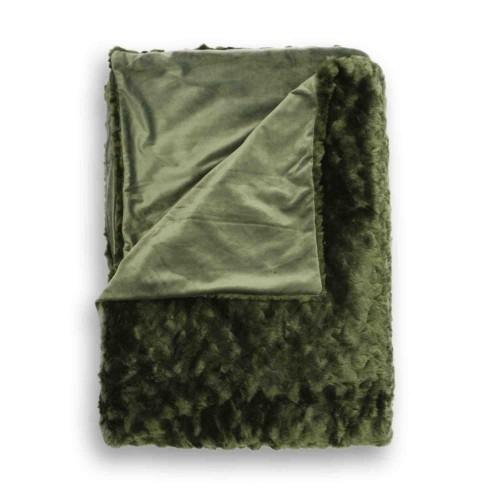 HNL living plaid Sheba (150x220cm, dark green)