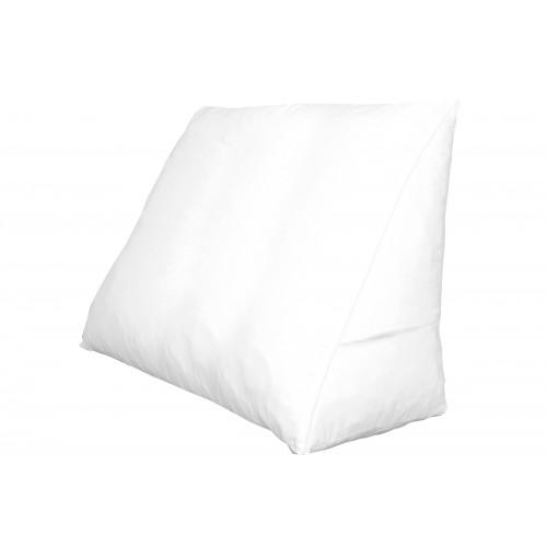 Polydaun bed zitkussen + kussenhoes (60x50x30cm, wit)