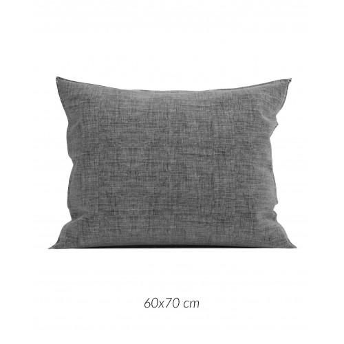 Zo! Home kussensloop Lino 60x70cm (dark grey)