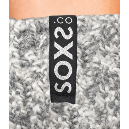 SOXS wollen grijze herensokken knie (jet black, maat 42-46)