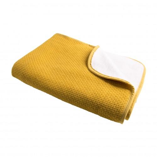 Katoenen Pique winter deken ochre 100x150 (ledikant)