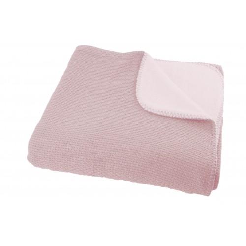 Katoenen Pique winter deken pink 100x150 (ledikant)