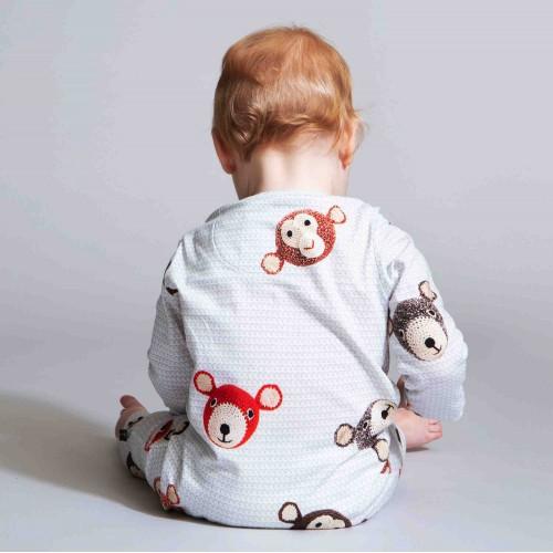 Snurk baby jumpsuit Teddy & Chimp