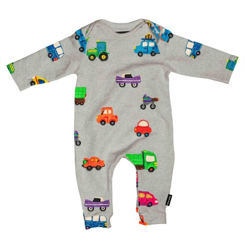 Snurk baby jumpsuit Clay Cars