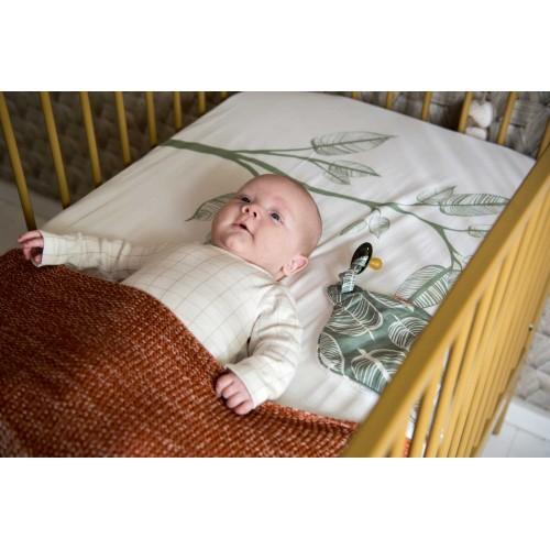 Witlof for kids speen/knuffeldoekje Beleaf (sage green-offwhite)