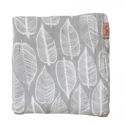 Witlof for kids Swaddle/hydrofiele doek 120x120cm Beleaf (warm grey-wit)