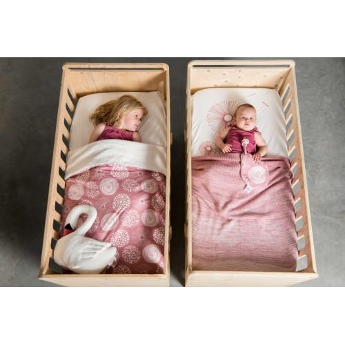 Witlof for kids hoeslaken 70x145 Sparkle rose-offwhite